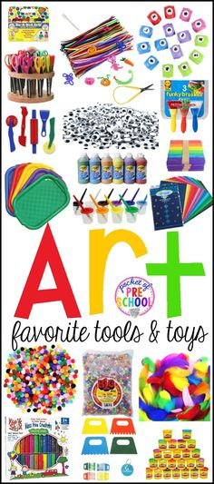 The biggest list of Art Center tools and toys for preschool, pre-k, and kindergarten! Make the art center an amazing place for your students!