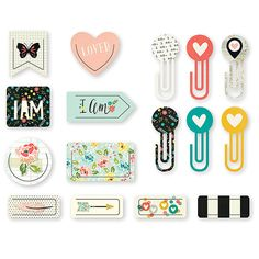 Carpe Diem I AM Clips Planner Accessories  by PlayingWithColor2