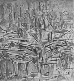 1913 Compositie nr. 1 (Boom), afmetingen: 85,5 x 87,5 cm, 1913