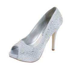 Crystal Shoes why spend hundreds when I have the alternative gorgeous shoes for less Silver Wedding Shoes, Silver Heels, Shoes For Less, Occasion Shoes, Crystal Shoes, Crystal Design, Vintage Bridal, Shoes Uk, Bridal Shoes