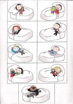 sleeping avengers