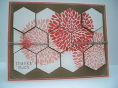 Stampin' Up | Pals Paper Arts | My Stampin' Project. Betsy's Blossoms. Six Sided Sampler.