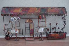 Eames Mid Century Metal Wall Sculpture Cafe and by bycinbyhand, $35.00