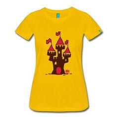 Schloss T-Shirt | Spreadshirt | ID: 10711473. #Spreadshirt #Cardvibes #Tekenaartje #Castle