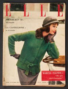 'ELLE' FRENCH VINTAGE MAGAZINE 14 OCTOBER 1957 |