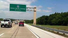 Driving in Plano Texas Video 1 President Goerge Bush Turnpike, Jupiter t...