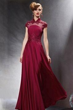 ELEGANTE LONGUE BURGUNDY DRESS 2016