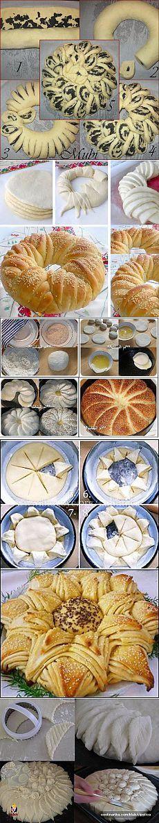 (62) Одноклассники Jelly Recipes, Sweet Recipes, Christmas Veggie Tray, Bread Recipes, Cooking Recipes, Bread Art, Pastry Design, Bread Shaping, Bread Alternatives