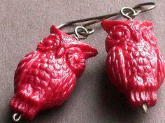 vintage lucite owl earrings