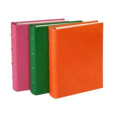 Small Ring Clear Pocket Album, Brights Leather 60