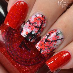 Lady Queen Inkwash Flower Decals