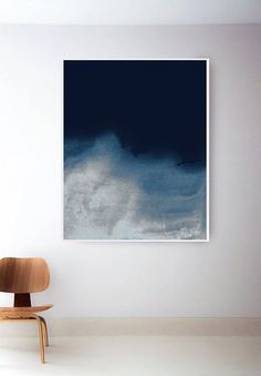 Simple art prints drawings 51 new ideas Minimal Art, Blue Artwork, Navy Blue Wall Art, Expressionist Artists, Pastel Landscape, Blue Abstract Painting, Simple Art, Watercolor Art, Art Prints