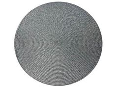 2 X 30cm Metallic Silver Glitter Woven Round Dining Mat Coaster Table Place Mat: Amazon.co.uk: Kitchen & Home