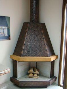 1000 images about chimeneas on pinterest fireplaces - Chimeneas rusticas de ladrillo ...