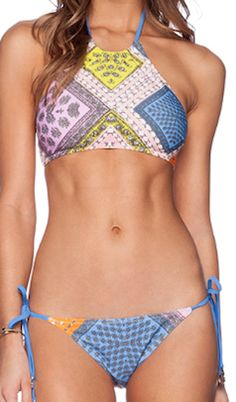 Fashionable printed two piece swimsuit