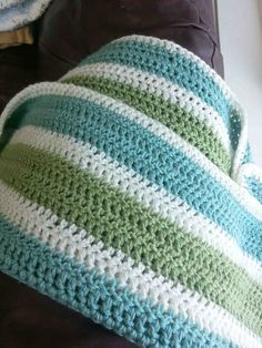Made by Me. Shared with you.: Striped Crochet Afghan