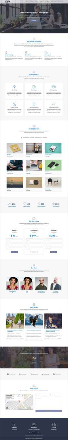 Doo is clean and modern design One Page #Parallax Responsive #WordPress theme suitable for any creative #business agency website download now➩ https://themeforest.net/item/doo-one-page-wordpress/19741559?ref=Datasata