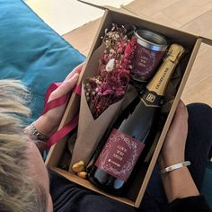 Hampers For Her, Gift Hampers, Wine Gift Boxes, Wine Gifts, Tie Gift Box, Kraft Gift Boxes, Personalized Chocolate, Personalized Gifts, Personalised Box