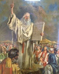 Moses brought forth the people out of the camp to meet with God; and they stood at the nether part of the mount Religious Pictures, Bible Pictures, Jesus Pictures, Religious Paintings, Religious Art, Bible Art, Bible Scriptures, Golden Calf, La Sainte Bible