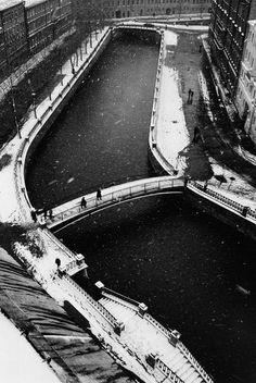 Boris Smelov. Saint-Petersburg. Snowfall. 1997.