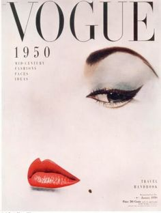 Vogue Cover - 1950 Photo: This Photo was uploaded by MargheritaDaisy. Find other Vogue Cover - 1950 pictures and photos or upload your own with Photobuc. Vintage Makeup, 1950s Hair And Makeup, 1950s Makeup, Vintage Beauty, 1940s Hair, Retro Makeup, Vintage Fashion, Edwardian Fashion, Old Hollywood Glamour