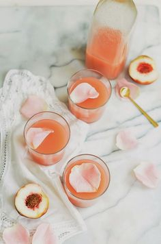 white peach and rose lemonade.