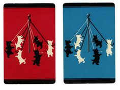 MAYPOLE Scottish Terrier 2 carte da gioco Vintage di AntiqueWhimsy
