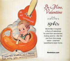 Vintage valentines through the decades: 1940s
