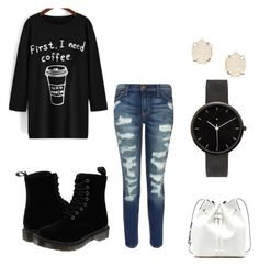 Casual day out in the town by emileegarciaa on Polyvore featuring polyvore, mode, style, Current/Elliott, Dr. Martens, Sole Society, I Love Ugly, Kendra Scott, fashion and clothing