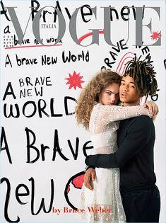 Estella Boersma and Jaden Smith cover the January 2017 issue of Vogue Italia.