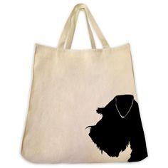Schnauzer Tote Bag - Silhouette Design