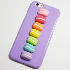 Purple 3D Rainbow Macarons iPhone 6 / 6S Hard Case