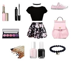 """""""# pink"""" by laltdavis ❤ liked on Polyvore featuring CO, Dolce&Gabbana, Converse, Marc Jacobs, Clarins, Essie and Sydney Evan"""