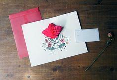 Pop Up Card [ Love ] / Flower Pop Up Card / 10970290