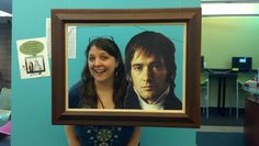 Mr. Darcy selfie station... good idea for a party
