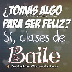 ¿ Tomas algo para ser feliz? Sí, clases de Baile  #FelizViernes  #Salsa #baile…