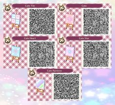 Animal Crossing: New Leaf & HHD QR Code Paths : Photo - Perfect.Town says - I have used this as an alternating set of path squares. Very pretty and cute! Animal Crossing Qr Codes Clothes, Animal Crossing Game, Galaxie Pastel, Acnl Pfade, Kawaii, Acnl Paths, Motif Acnl, Code Wallpaper, Ac New Leaf