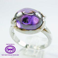 Lindo anillo de plata de Liz por MinervaSilverJewelry en Etsy