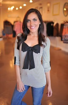 Dottie Couture Boutique - Bow Front Top, $34.00 (http://www.dottiecouture.com/bow-front-top/)