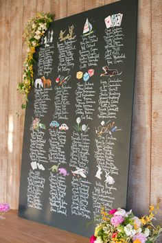Playful Seating Chart Display - Display Designed By Happy Menocal; Wedding…