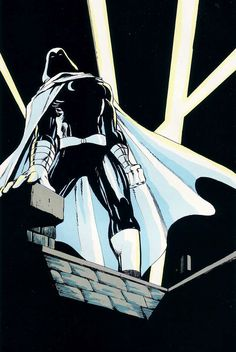 Moon Knight by Dave Sim Marvel Fanfare (March Marvel Comics Marvel Comic Character, Marvel Comic Books, Comic Book Characters, Character Art, Fictional Characters, Moon Knight 2016, Moon Knight Comics, Dave Sim, Punisher Marvel
