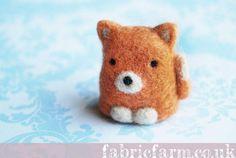 Needle felted fox from Fabric Farm by Teddy Bear Orphans