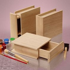 Save money on wood boxes at wholesale prices by shopping at Paper Mart! We offer some of the best prices and selection on wood boxes. Wood Projects For Beginners, Small Wood Projects, Beginner Woodworking Projects, Woodworking Crafts, Woodworking Classes, Woodworking Store, Woodworking Magazine, Popular Woodworking, Diy Wood Box