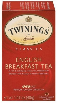 Twining English Breakfast Tea (6 Pack). They're always a classic.