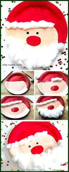 6 Noël en plastique Paddle Chauves-Souris-Cadeau Fête Enfants Cupcake Noël Stocking Santa