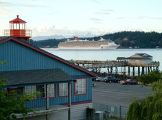 The Maritime Heritage Centre, Discovery Fishing Pier and a cruiseship - great sites all summer long! Heritage Center, Island Weddings, Vancouver Island, British Columbia, West Coast, Great Places, Discovery, Centre, Wedding Venues