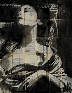 "Saatchi Art Artist: Loui Jover; Ink 2014 Drawing ""carnation"""