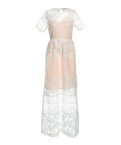 Perseverance London Ivory Embroidered Organza Maxi Dress