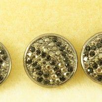 6 Piece 2 Hole Slider Beads Crystal Circles Black & Hematite
