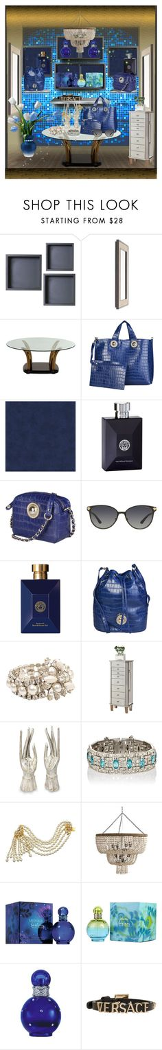 """Showcase Accessories!"" by eco-art ❤ liked on Polyvore featuring Mitchell Gold + Bob Williams, Versace, Miu Miu, Coaster, NOVICA, Miriam Haskell and Britney Spears"